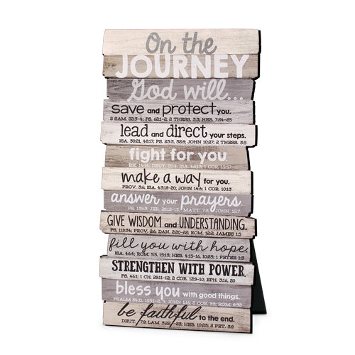 Plaque-Journey-Stacked Words-Small-5x10