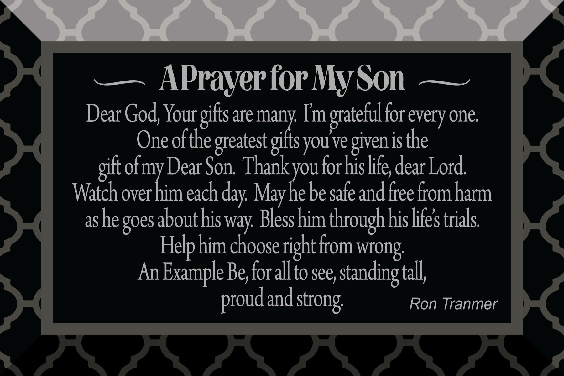 Plaque-Son-Prayer For My Son