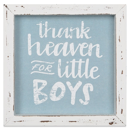 Framed Art-Thank Heaven/ Little Boys-8x8