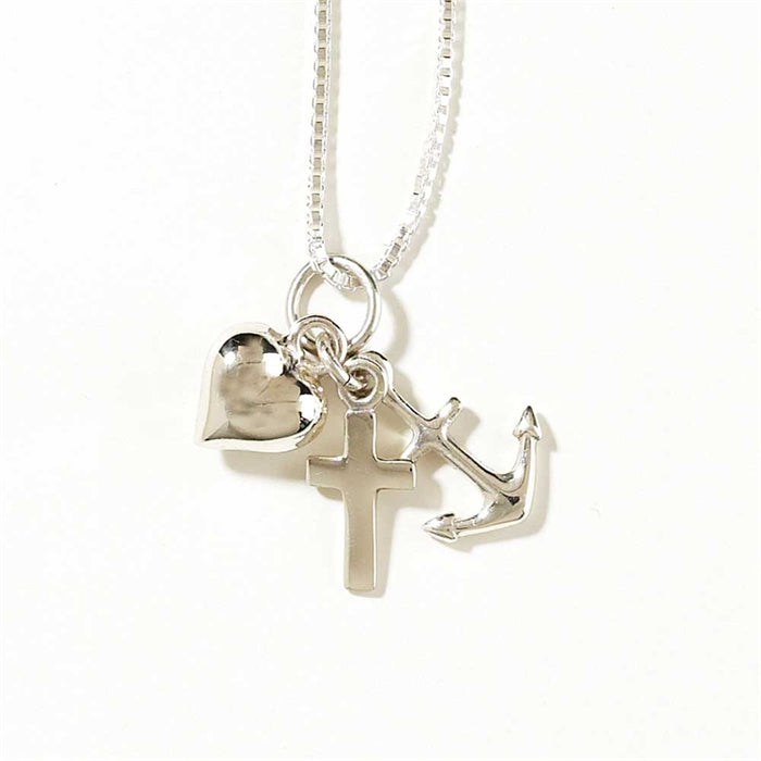 Pendant-Anchor/Cross/Heart-Silver Plated