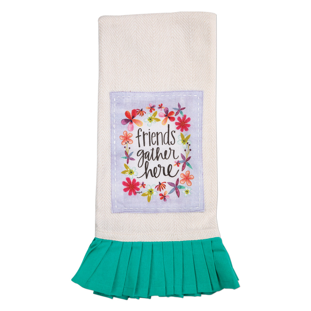 Kitchen Towel-Friends Gather Here