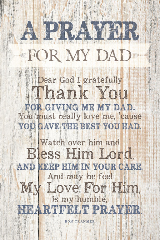 Plaque- Dad- Prayer For My