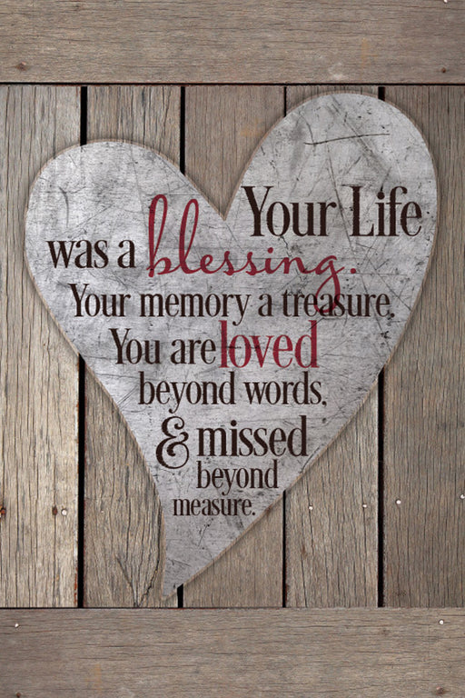 Plaque-Memory/Treasure/Heart-Wood Look