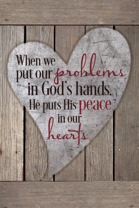 Plaque-Problems in God's Hands/Heart