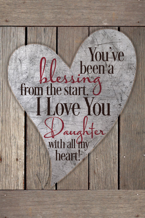 Plaque- Daughter/Blessing-Heart