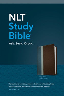 NLT Study Bible-Blue/Brown TuTone-Leatherlike