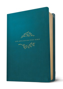 NLT Life Application Study Bible Third Edition-Teal Blue Leatherlike