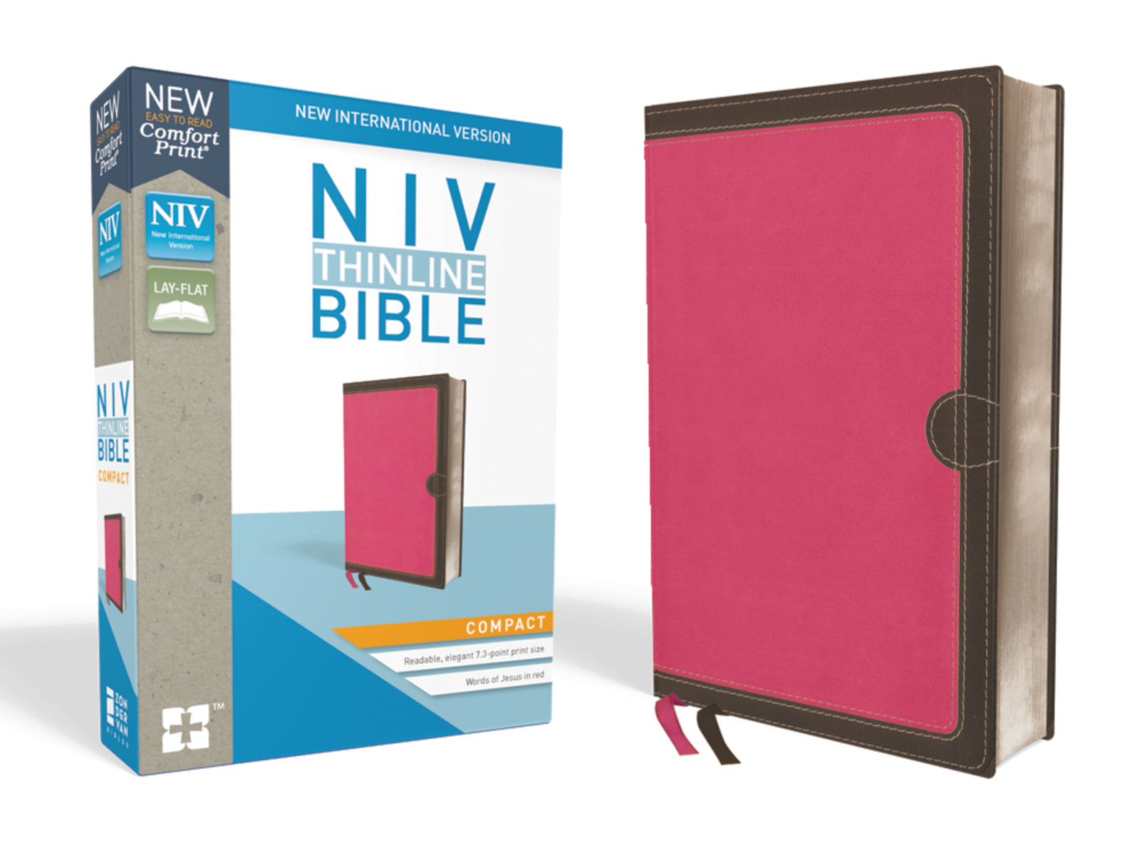 NIV Thinline Compact Comfort Print-Pink/Brown