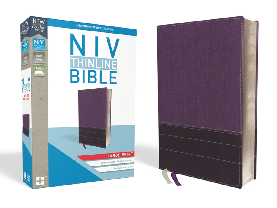 NIV-Thinline Bible Large Print Comfort- Purple