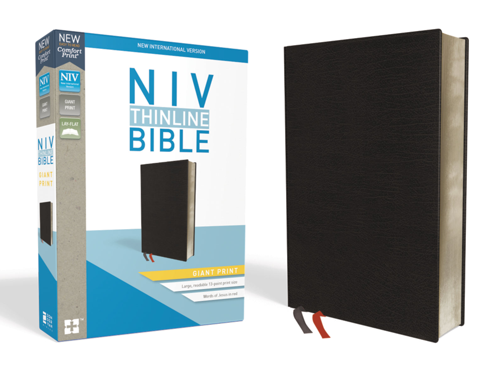 NIV-Thinline Bible Giant Print Comfort-Black