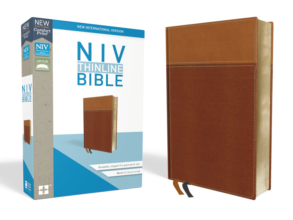 NIV-Thinline Bible Comfort Print- Tan