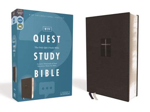 NIV Quest Study Bible-Black Leathersoft