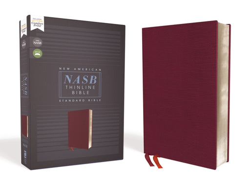 NASB Thinline Bible-Burgundy Bonded Leather