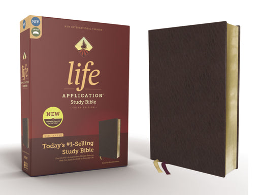 NIV Life Application Study Bible Third Edition-Burgundy Bonded Leather