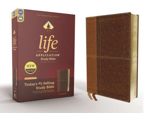 NIV Life Application Study Bible Third Edition-Tan/Brown Leathersoft