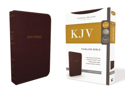 KJV -Thinline Bible - Burgundy