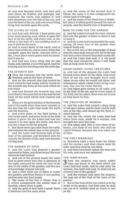 KJV - Thinline Bible Index - Brown