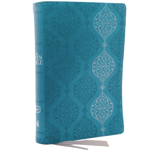 KJV Open Bible-Turquoise Leather Soft
