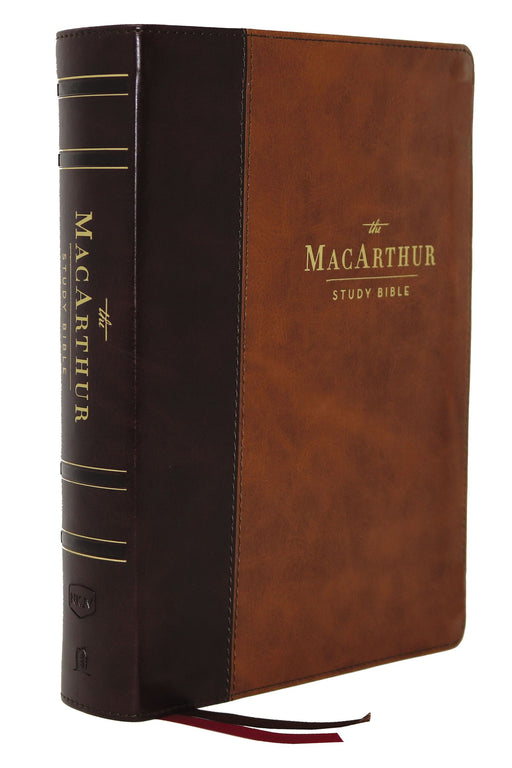 NKJ MacArthur Study Bible-Brown Leathersoft