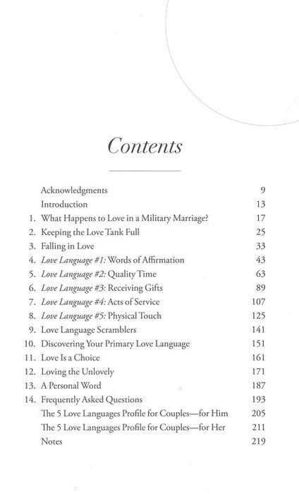 Five Love Languages - Military - Gary Chapman