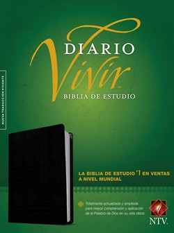 Spanish-NTV Life Application Bible-Black Bonded Leather