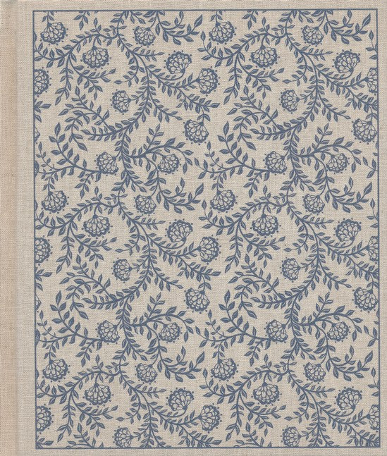 ESV Journaling Bible-Tan Cloth with Blue Flowers