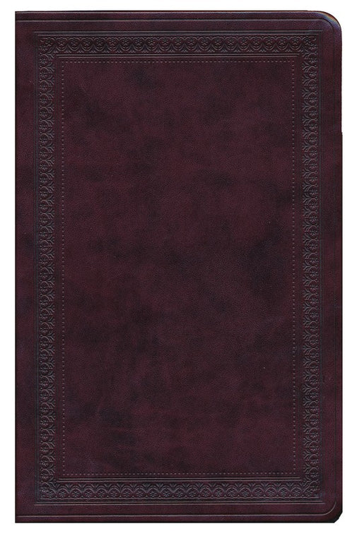 ESV Large Print Value Thinline Bible-Mahogany