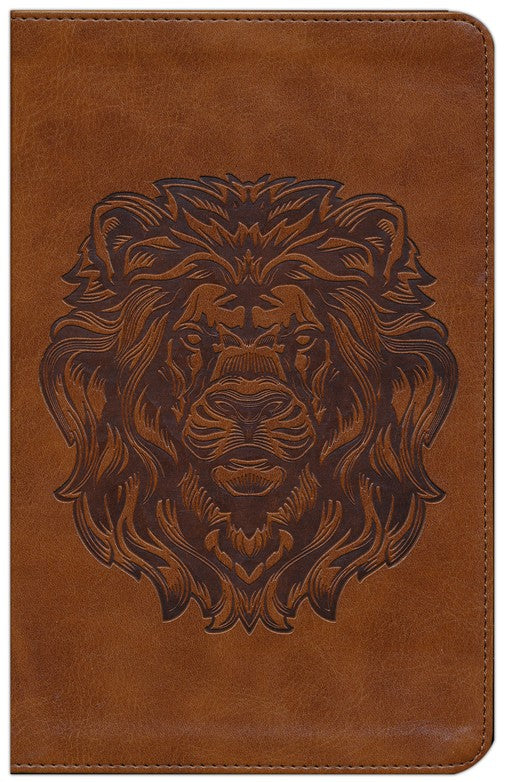 ESV Thinline Bible-Brown with Royal Lion