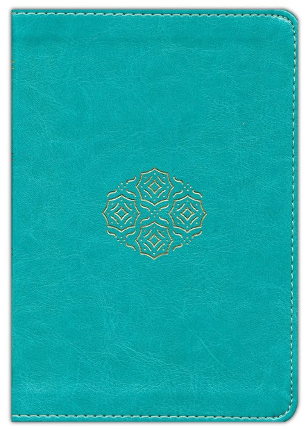ESV-Large Print Compact Bible-Teal Duo-Tone