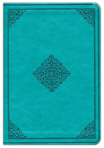 ESV-Value Large Print Compact Bible-Teal Duo-Tone