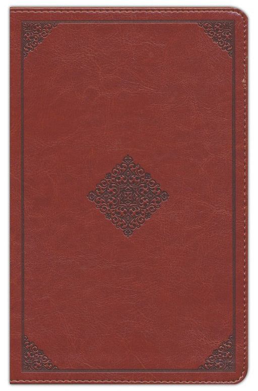 ESV Thinline Reference Bible-Tan With Embossed Diamond