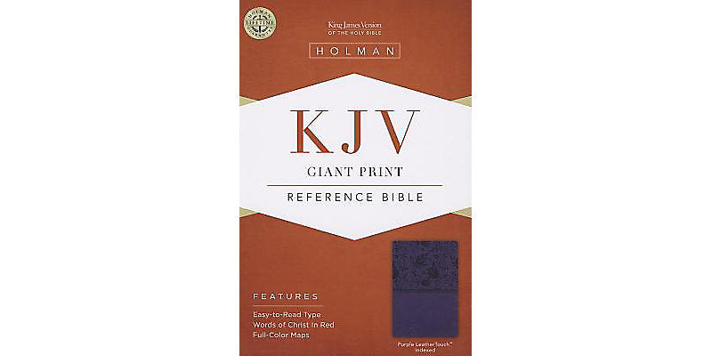 KJV Giant Print Reference-Purple Leatherflex-Index