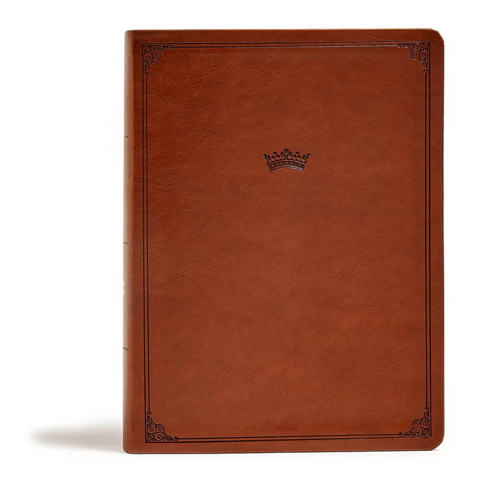 CSB Tony Evans Study Bible-British Tan LeatherTouch