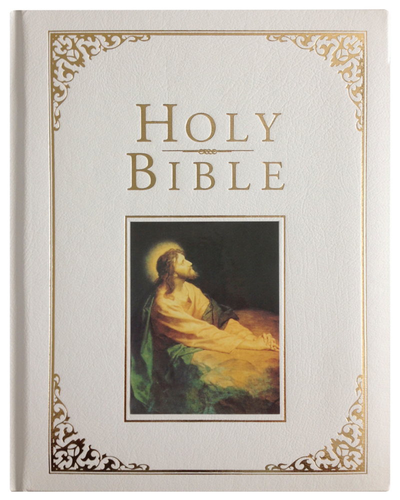 Holman KJV Family Bible Deluxe Edition-White Bonded Leather