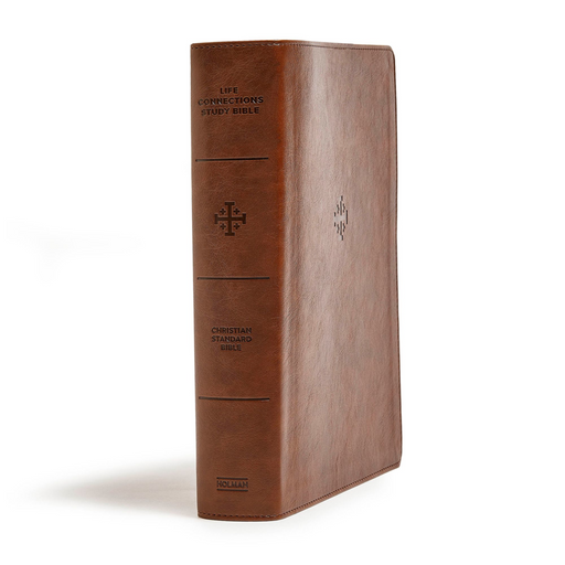 CSB Life Connections Study Bible-Brown LeatherTouch
