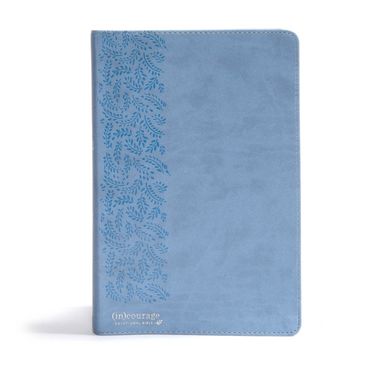 CSB (in)Courage Devotional Bible-Blue Leather Touch