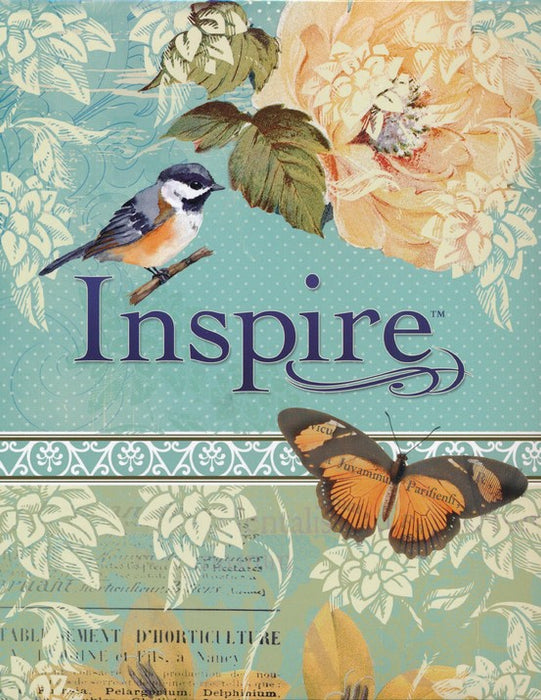 NLT Inspire Bible-Blue Leatherflex over Board-Coloring & Journaling