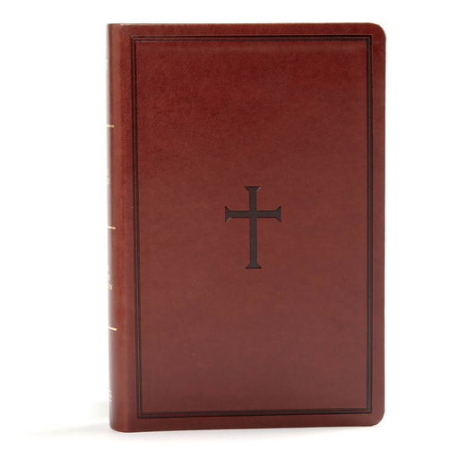 KJV Large Print Personal Size Reference Bible-Brown Leather Touch