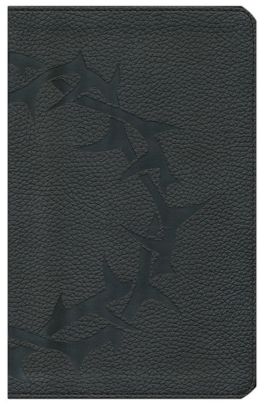 ESV-Thinline Bible	-Black with Embossed Thorn Crown