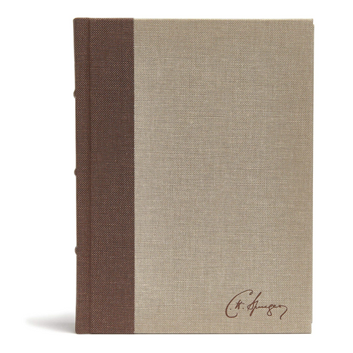 CSB Spurgeon Study Bible-Brown/Tan Cloth Over Board