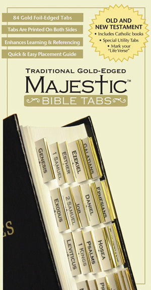 Bible Tab-Majestic Traditional Gold-Edged