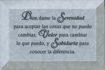 Spanish- Plaque-Serenity Prayer
