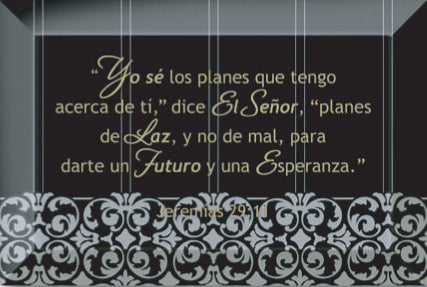Spanish-Plaque-For I Know The Plans
