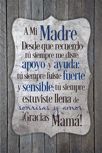Spanish-Plaque-Mother- To My