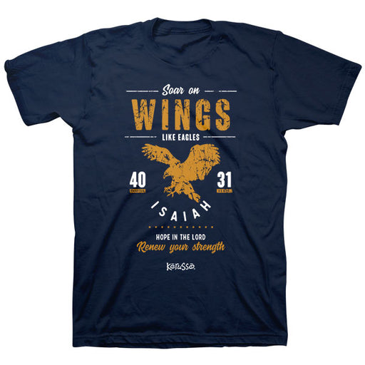 T-shirt-Soar Eagle-Navy