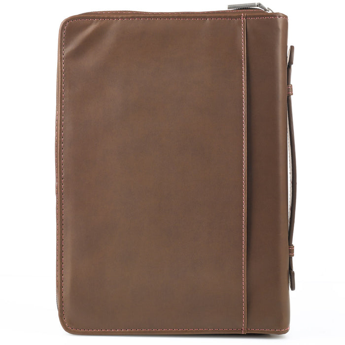 Bible Cover-Lux Leather- I Know The Plans/Pink