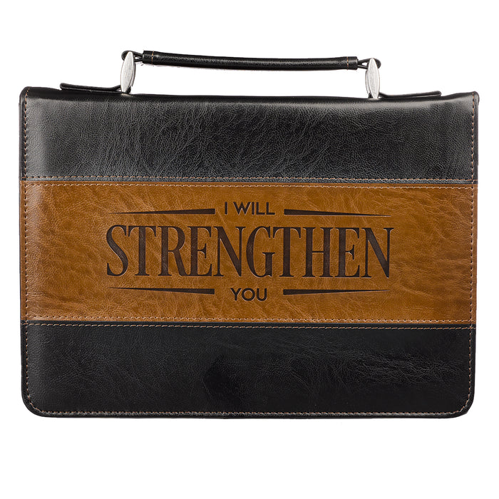 Bible Cover-Classic Lux Leather- Strengthen