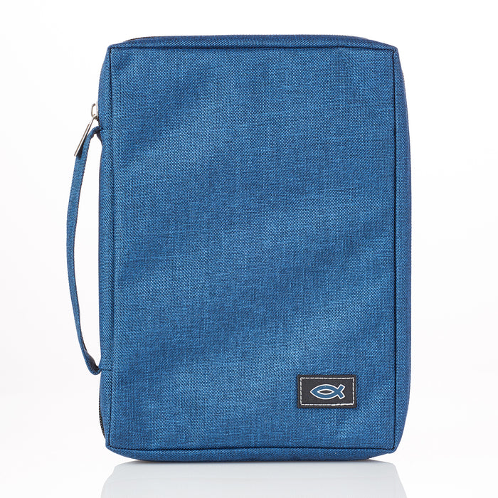 Bible Cover-Canvas Value- Navy