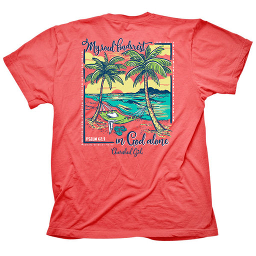 T-shirt-Beach Hammock-Coral Silk