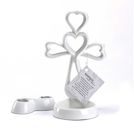 Candle Holder-Cross-Marriage Takes Three